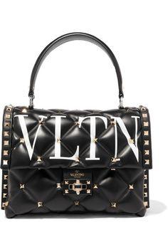 51d5bc73c Valentino - Valentino Garavani Candystud printed quilted leather shoulder  bag