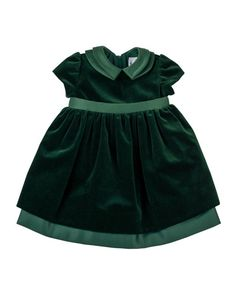 Florence Eiseman Infant Toddler Girls Emerald Green Velvet