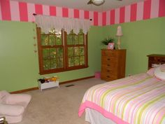 Pink and Green girl's room