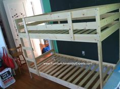 ikea mydal bunk bed assembled in Washington DC by Furniture assembly experts LLC