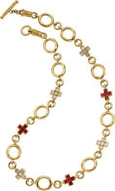 Jóias Estate: colares, diamante, rubi, Colar de Ouro, Loree Rodkin.  ...