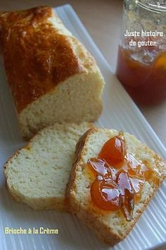 Brioche in 5 minutes preparation, it is absolutely necessary that I try and that I find guinea pigs Thermomix Desserts, Dessert Recipes, Croissants, Brioche Bread, Flaky Pastry, Bread And Pastries, Sweet Cakes, Cookies, Gourmet