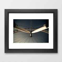 LONDON EYE Framed Art Print by Kevin Spagnolo - $31.00