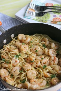 Shrimp Scampi with L