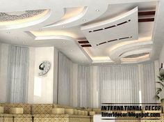 modern suspended ceiling design idea for modern living room interior design