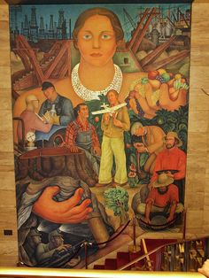 Diego Rivera Fresco, Riches of California, 1931