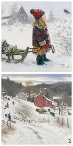 Robert Duncan Art 1 The Friendly One, 2 December In The Country Snow Pictures, Cute Pictures, Robert Duncan Art, Winter Scenery, Snow Scenes, Country Art, Winter Beauty, Western Art, Christmas Art