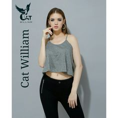 Grey cavalry camisole top #_Catwilliam  Www.catwilliam.com Crop Tops, Tank Tops, Camisole Top, Grey, How To Make, Women, Fashion, Ash, Moda