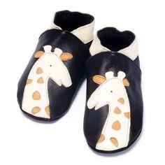 Chaussons bébé girafe brun crème 0-6 mois au meilleur prix chez allobébé