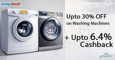 Get upto 30% off on washing machines like top load front load automatic and more @snapdeal  get upto 6.4% extra cashback from us >> http://ift.tt/1WPZIXU  #washingmachine #appliances #homeappliances #snapdeal #cashback #cashbackoffers #snapdealcashback #cashbackoffers
