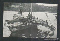 Postales: Islas Carolinas.Truk.Canoa hecha de un tronco de arbol.Mision de Carolinas.Postal.Post-card. - Foto 1 - 59530787