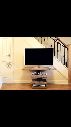 Handmade TV unit using reclaimed timber and steel