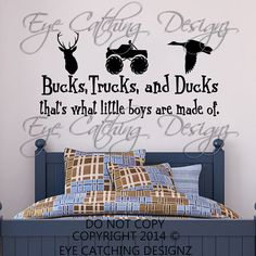 Bucks Trucks Ducks That's What Little Boys Are Made Of Country Wall Decal Home Decor Vinyl Art