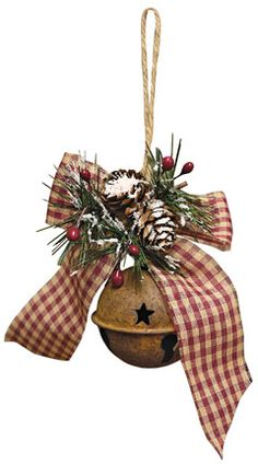 Iced Jingle Bell Ornament