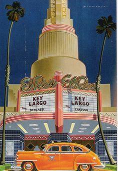 All sizes | The El Rey Theatre Dennis Ziemienski Paper Moon Graphics 1980…