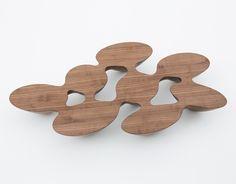 Quark coffee table in walnut wood