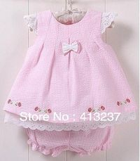 Hot new baby girl cute dresses plaid bowknot kids summer baby clothing sets dess sets 2pcs/set free shipping-in Dresses from Apparel  Accessories on Aliexpress.com $15.40