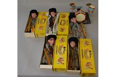 Five Pelham Puppets - Pop Star (inspired by the Beatles) all boxed. (5)
