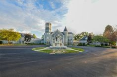 This castle sits atop 13 acres of land.