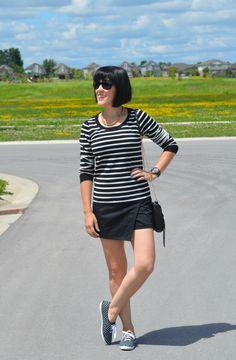 Polka Dot Keds and Stripes Keds Champion, School Outfits, Skort, Polka Dots, Stripes, Tops, Women, Style, Fashion