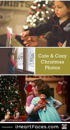 Holiday Photography Inspiration! We love the holidays.  Each year, we share some of our favorite holiday and Christmas photos to inspire you.  This year, we want to focus on images that capture that cozy Christmas feeling.  Enjoy! Read more at http://www.iheartfaces.com/2015/12/cute-cozy-christmas-photos/