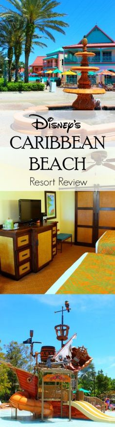 An honest and thorough review of Caribbean Beach Resort at Disney World, including refurbished rooms, pirate themed feature pool and some drawbacks