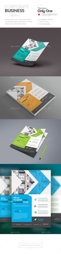Buy Corporate Flyer by ColorsMarket on GraphicRiver. File Information This File open is programs cc, cc+), it's item minimum adobe photoshop c. Corporate Flyer, Corporate Business, 100 Free Fonts, Creative Flyers, Text Fonts, Business Flyer Templates, Stationery, Photoshop, Internet