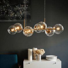 Bar Pendant Lights, Pendant Lighting Bedroom, Hallway Lighting, Kitchen Pendant Lighting, Chandelier Lighting, Chandelier Bulle, Bubble Chandelier, Pendant Chandelier, Globe Pendant