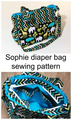 Sophie Diaper Bag Sewing Pattern This And Make With Lots Of Pockets A Zipper