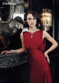 Keira Knightley Red Evening Dress for Coco Mademoiselle