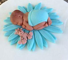FONDANT CAKE TOPPER Baby Shower Cake First Birthday Daisy Pink