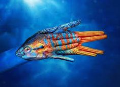 Image result for painted fish art