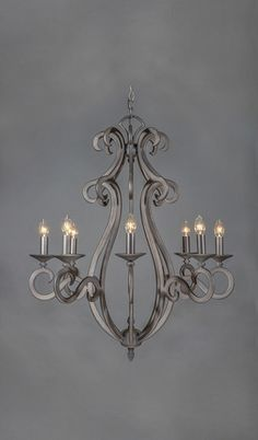 New Mexico Wrought Iron Chandelier - 8 Light
