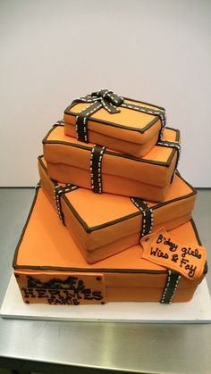 HERMES box birthday cake by CAKE Amsterdam - Cakes by ZOBOT, via Flickr