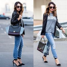 .@Mariann Mező | Sequin jacket and ripped jeans today #ootd | Webstagram - the best Instagram viewer