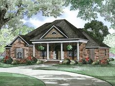 New American House Plan with 2556 Square Feet and 4 Bedrooms(s) from Dream Home Source | House Plan Code DHSW55736