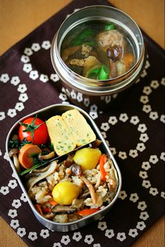 Slowly every day. Japanese Lunch Box, Japanese Food, Bento Box Lunch, Bento Food, Bento Recipes, Breakfast For Dinner, Food Presentation, Asian Recipes, Catering