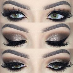 Dramatic Brown Smokey Eye Makeup by melissasamways