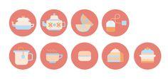 Tea Time • Icon Design by Vanessa Farano, via Behance