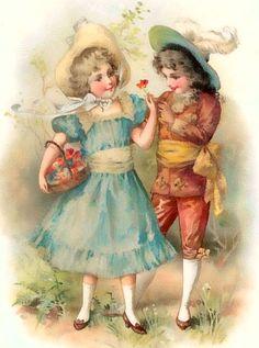 "ArtbyJean - Vintage Clip Art: Four different beautiful vintage prints of children from the ""Vintage Children"" prints collection"
