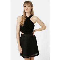 Topshop Halter Skater Dress ($95) ❤ liked on Polyvore
