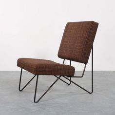 Cees Braakman; Painted Metal and Upholstery FM03 Lounge Chair for Pastoe, 1950s.