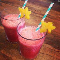 Drink de Framboesas sem álcool