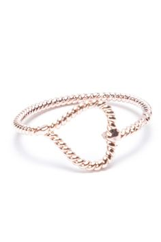 Brandy ♥ Melville | Rose Gold Open Heart Ring - Just In