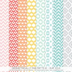 Geometrically Fab Patts 6 - Ikat {CU} - fun patterns ok for limited commercial use!