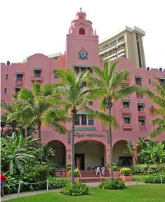 Royal Hawaiian Hotel, Waikiki = a magical space that transports one back in time :)