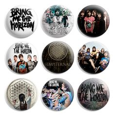 Bring Me The Horizon Pinback Button Pin Badge (Pack of 9)- 1 inch