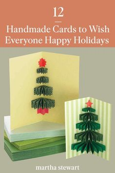 The art of handmade holiday cards is a treasure for the creator and recipient alike. This season, try your hand at one of our many handmade holiday card ideas, including button snowmen, accordion-folded photos, embossed, and glittered. #marthastewart #christmas #diychristmas #diy #diycrafts #crafts Christmas Deco, Christmas And New Year, Christmas Time, Christmas Crafts, Merry Christmas, School Holidays, Winter Holidays, Card Crafts, Diy Crafts