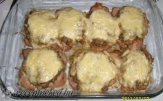 Cheese-mushroom chop with recipe photo Hungarian Recipes, Food Photo, Meat Recipes, Stuffed Mushrooms, Paleo, Pork, Food And Drink, Cheese, Chicken