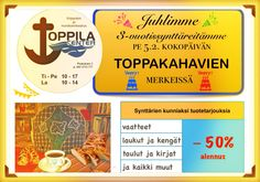 Welcome our birthday party on next Friday at 10 am. All products discount-50% #discount #toppila #oulu